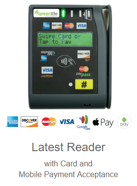 greenlite vending mobile payment card reader