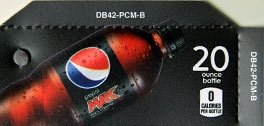 Small Pepsi Max Bottle Flavor Drink Labels