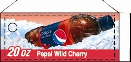 Small Pepsi Wild Cherry Bottle Flavor Drink Labels
