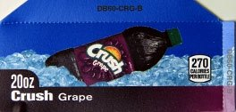 Small Crush Grape Bottle Flavor Drink Labels