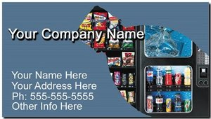 Snack and Soda Vending Route Business Cards