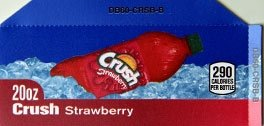 Small Crush Strawberry Bottle Flavor Drink Labels
