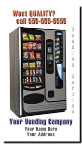 Vending Route Snack Machine Business Cards (Vertical)