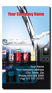 Soda Vending Route Business Cards (Vertical)