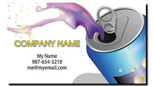 Soda Vending Route Business Cards
