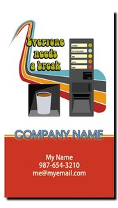 Snack and Soda Vending Route Business Cards (Vertical)