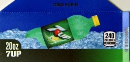 Small 7up Bottle Flavor Drink Labels
