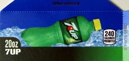 Small 7up Legacy Bottle Flavor Drink Labels