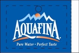 Large Aquafina Line Art Flavor Drink Labels