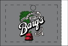 Large Barq's Root Beer Line Art Flavor Drink Labels