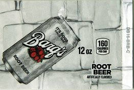 Large Barq's Root Beer Can Flavor Drink Labels