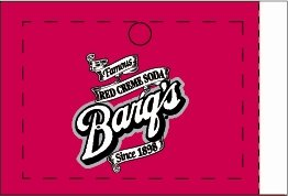 Large Barq's Red Creme Soda Line Art Flavor Drink Labels