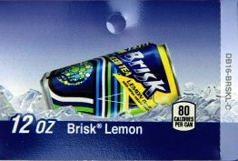 Large Lipton Lemon Brisk Iced Tea Can Flavor Drink Labels