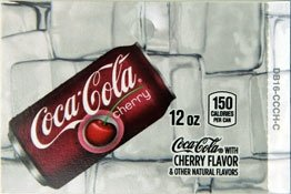 Large Coca-Cola Cherry Can Flavor Drink Labels