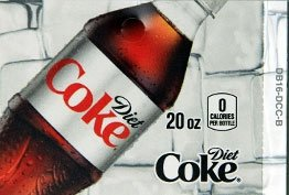 Large Diet Coke Bottle Flavor Drink Labels