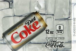 Large Caffeine Free Diet Coke Can Flavor Drink Labels