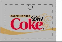 Large Caffeine Free Diet Coke Line Art Flavor Drink Labels