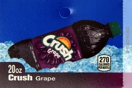 Large Crush Grape Bottle Flavor Drink Labels