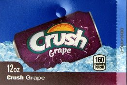 Large Crush Grape Can Flavor Drink Labels