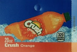 Large Crush Orange Bottle Flavor Drink Labels