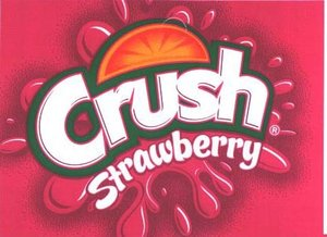 Large Crush Strawberry Line Art Flavor Drink Labels