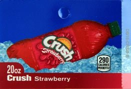 Large Crush Strawberry Bottle Flavor Drink Labels