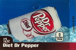 Large Diet Dr. Pepper Can Flavor Drink Labels
