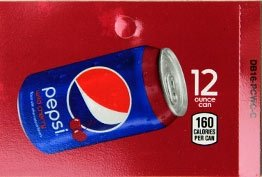 Large Pepsi Wild Cherry Can Flavor Drink Labels
