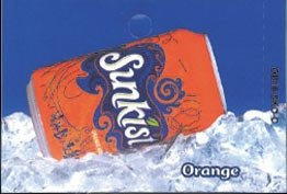 Large Sunkist Orange Can Flavor Drink Labels
