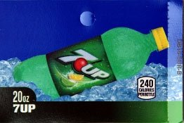 Large 7up Bottle Flavor Drink Labels
