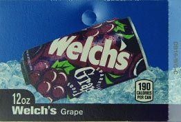 Large Welch's Grape Can Flavor Drink Labels