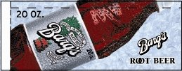 Small Barq's Root Beer Bottle Flavor Drink Labels