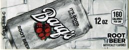 Small Barq's Root Beer Can Flavor Drink Labels