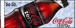 Small Coca Cola Zero Bottle Flavor Drink Labels