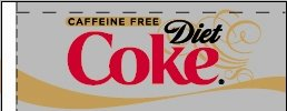 Small Caffeine Free Diet Coke Line Art Flavor Drink Labels