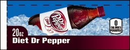 Small Diet Dr. Pepper Bottle Flavor Drink Labels
