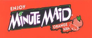 Small Minute Maid Orange Soda Line Art Flavor Drink Labels