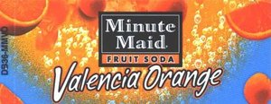 Small Minute Maid Valencia Orange Line Art Flavor Drink Labels