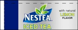 Small Nestea Iced Tea Lemon Line Art Flavor Drink Labels