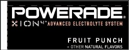 Small Powerade Ion Fruit Punch Line Art Flavor Drink Labels