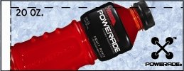 Small Powerade Ion Fruit Punch Bottle Flavor Drink Labels