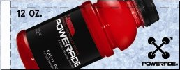 Small Powerade Ion Fruit Punch 12 oz. Bottle Flavor Drink Labels