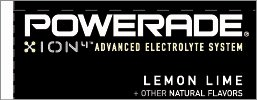 Small Powerade Ion Lemon Lime Line Art Flavor Drink Labels