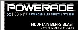Small Powerade Ion Mountain Berry Blast Line Art Flavor Drink Labels