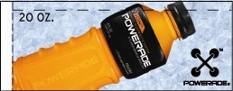 Small Powerade Ion Orange Bottle Flavor Drink Labels