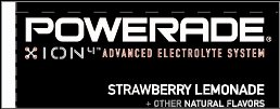 Small Powerade Ion Strawberry Lemonade Line Art Flavor Drink Labels