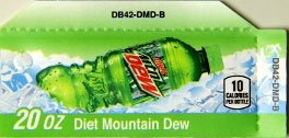 Small Diet Mountain Dew Bottle Flavor Drink Labels