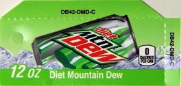 Small Diet Mountain Dew Can Flavor Drink Labels