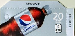Small Diet Pepsi Bottle Flavor Drink Labels
