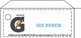 Small Gatorade Ice Punch Line Art Flavor Drink Labels